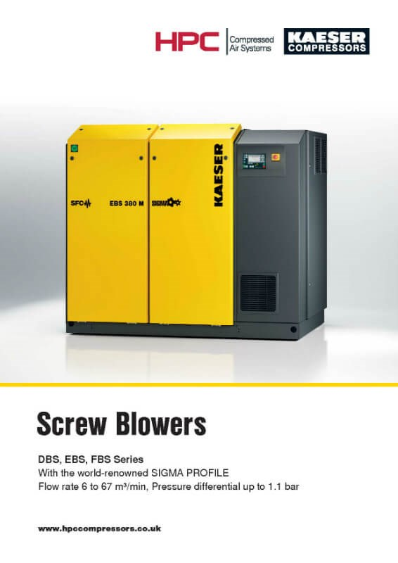 DBS-EBS-FBS Series Rotary Screw Blowers