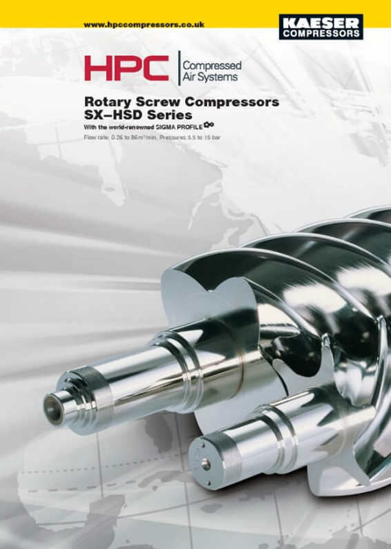 SX to HSD Series Rotary Screw Compressors Brochure