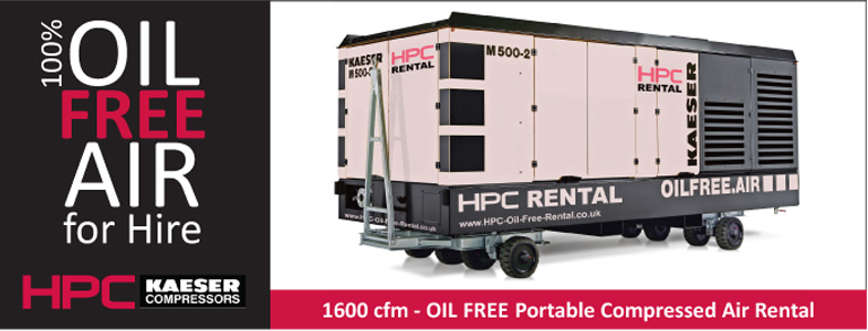100% Oil Free Air for Hire