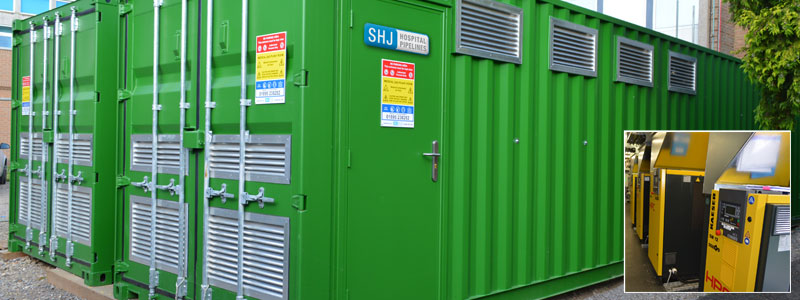 SHJ Containerised Installation at Hillingdon Hospital