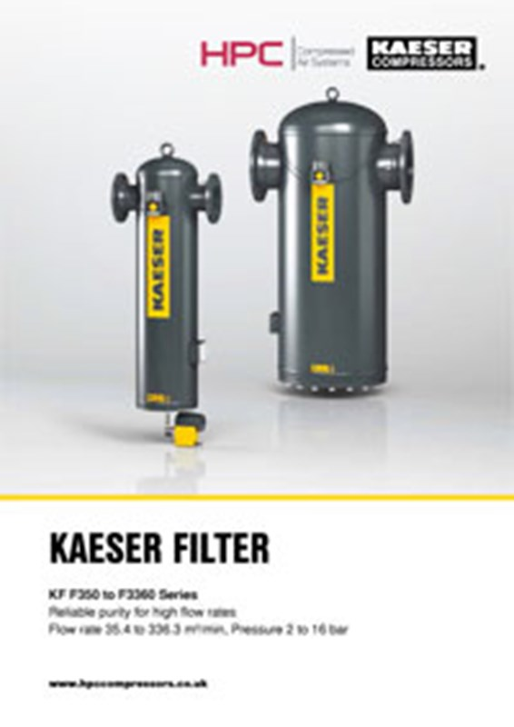 KF-Series Compressed Air Filters (F350 to F3360)